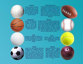 Diferentes tipos de bolas y pelotas utilizadas en