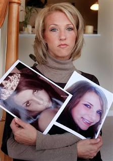 Tina Meier holds Megan's pictures