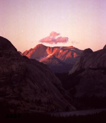 Sunset on the Sierras, California, Aug. 1995