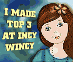 I made it to the TOP 3 of Incy Wincy Designs