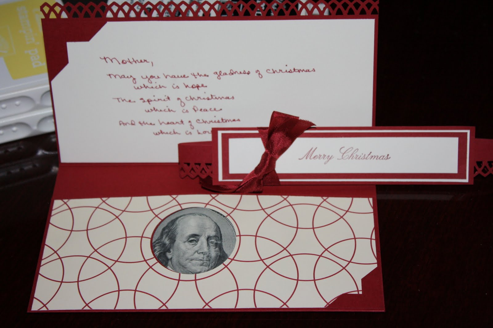 Stamping and Creating: Christmas Money/Gift Card Holder