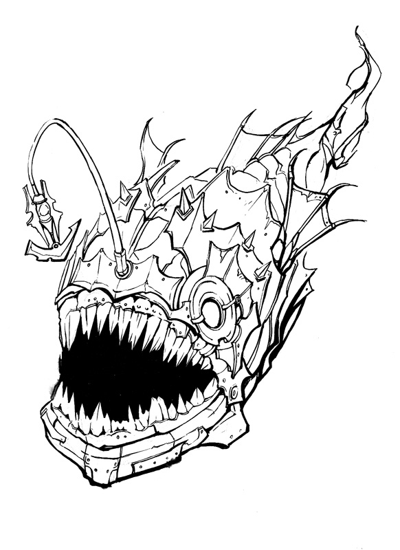 Angler Fish Coloring Page Coloring Pages Angler Fish Coloring Page