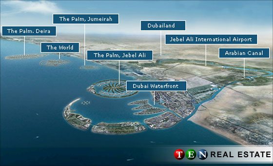 dubai world islands. The artificial islands, shaped