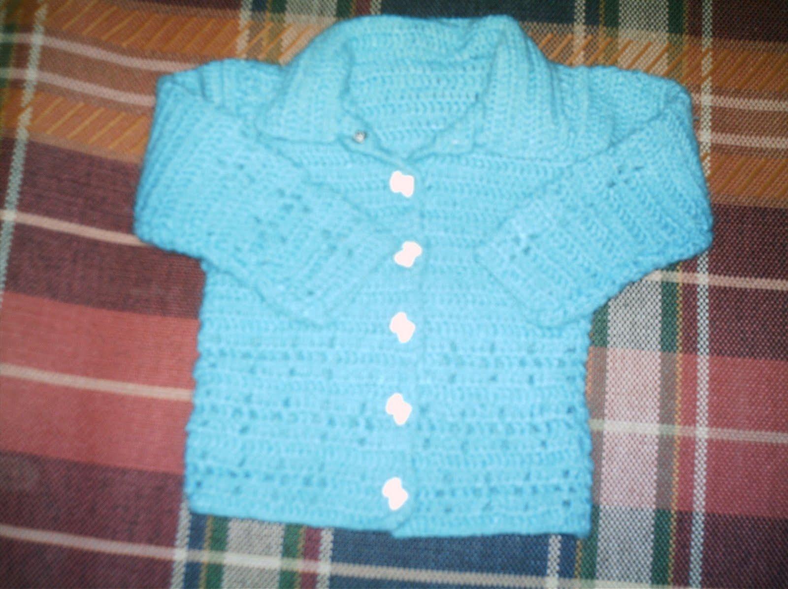 saquito de bebé en crochet es para recién nacido