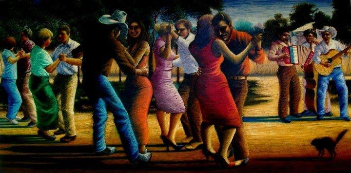 """Art by Rosendo Sandoval - Title:""""La que bailo con el diablo """" contact: galloblanco03@yahoo.com"""