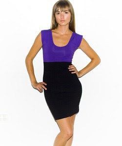 American Apparel Color Block Dress