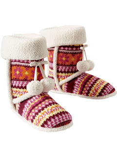 Old Navy Sherpa-Trim Fair Isle Slipper Boots