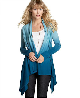 Lucky Brand Ombré Open-Front Cardigan Sweater