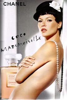 Kate Moss Coco Mademoiselle Perfume Chanel Pearls