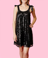 Betsey Johnson Sequins Trapeze Dress