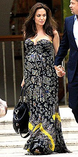 Angelina Jolie Maxi Dress