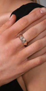 Nicole Richie House of Harlow 1960 Rose Gold Thick Stacking Ring