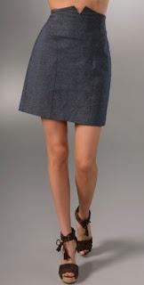 Charlotte Ronson Miniskirt with Waist Yoke