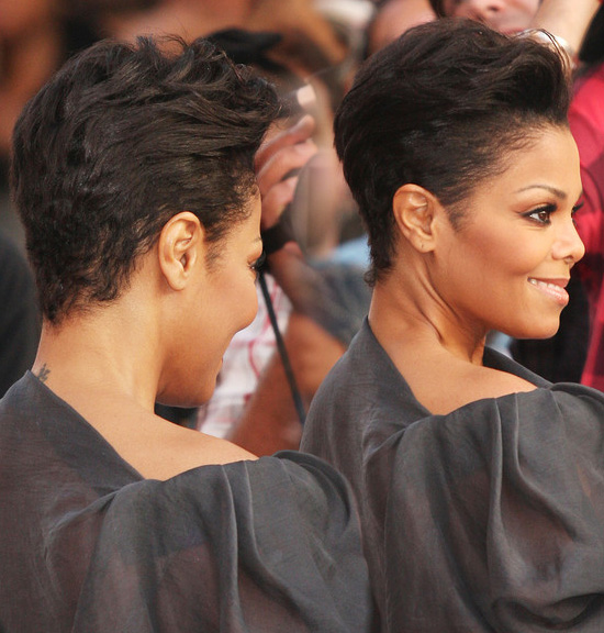Around The Way Talk Janet Rocking A Short Hair Cut
