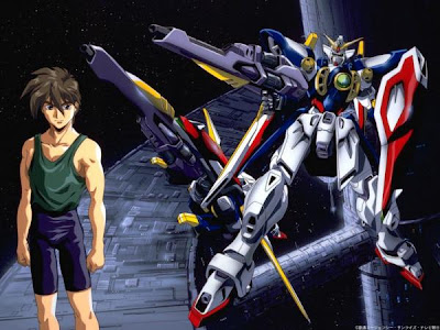 gundam wing wallpaper. Heero Yuy anime series in Gundam wing
