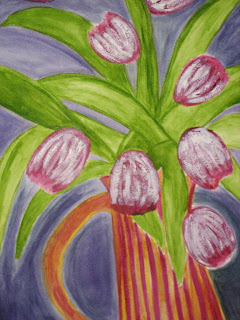 Tulips in Dancing Pitcher