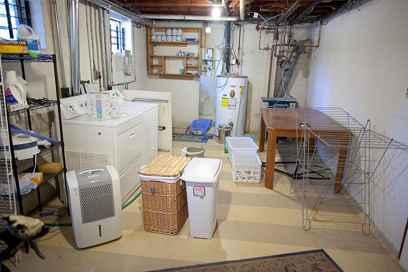 Wonderful ... Unfinished Basement Laundry Room Makeover