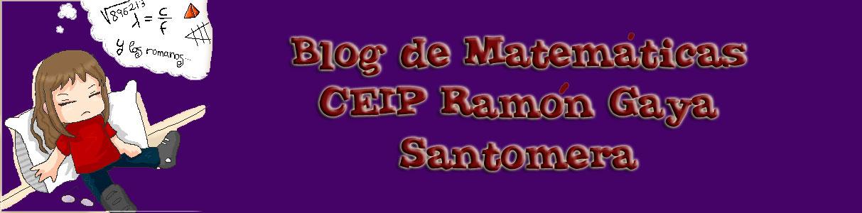 CEIP Ramón Gaya 6ª Primaria Matemáticas