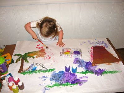 """links to dinosaur coloring pages below. I included a foam """"volcano"""" and"""