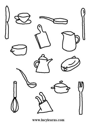 Recetas dibujos para imprimir for Utensilios de cocina imagenes para imprimir