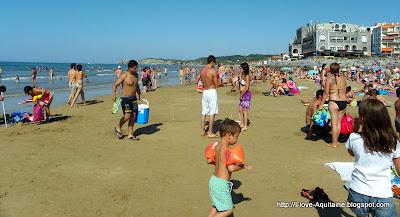 Crowded Hendaye Beach