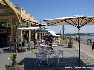 Café at Quai des Marques in Bordeaux