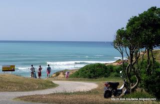Arriving at the Erretegia beach