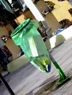 Transparent waste bin in Paris