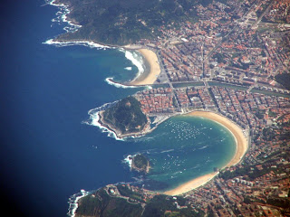 Airial view of San Sebastian