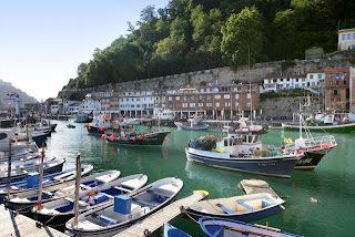 The small harbour in San Sebastian