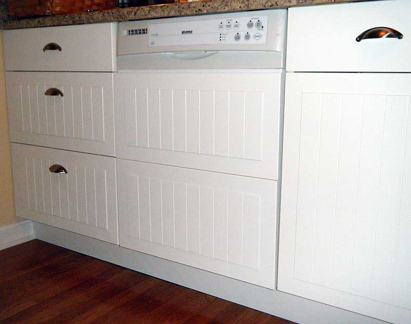 custom dishwasher panel from cabinet fronts ikea hackers