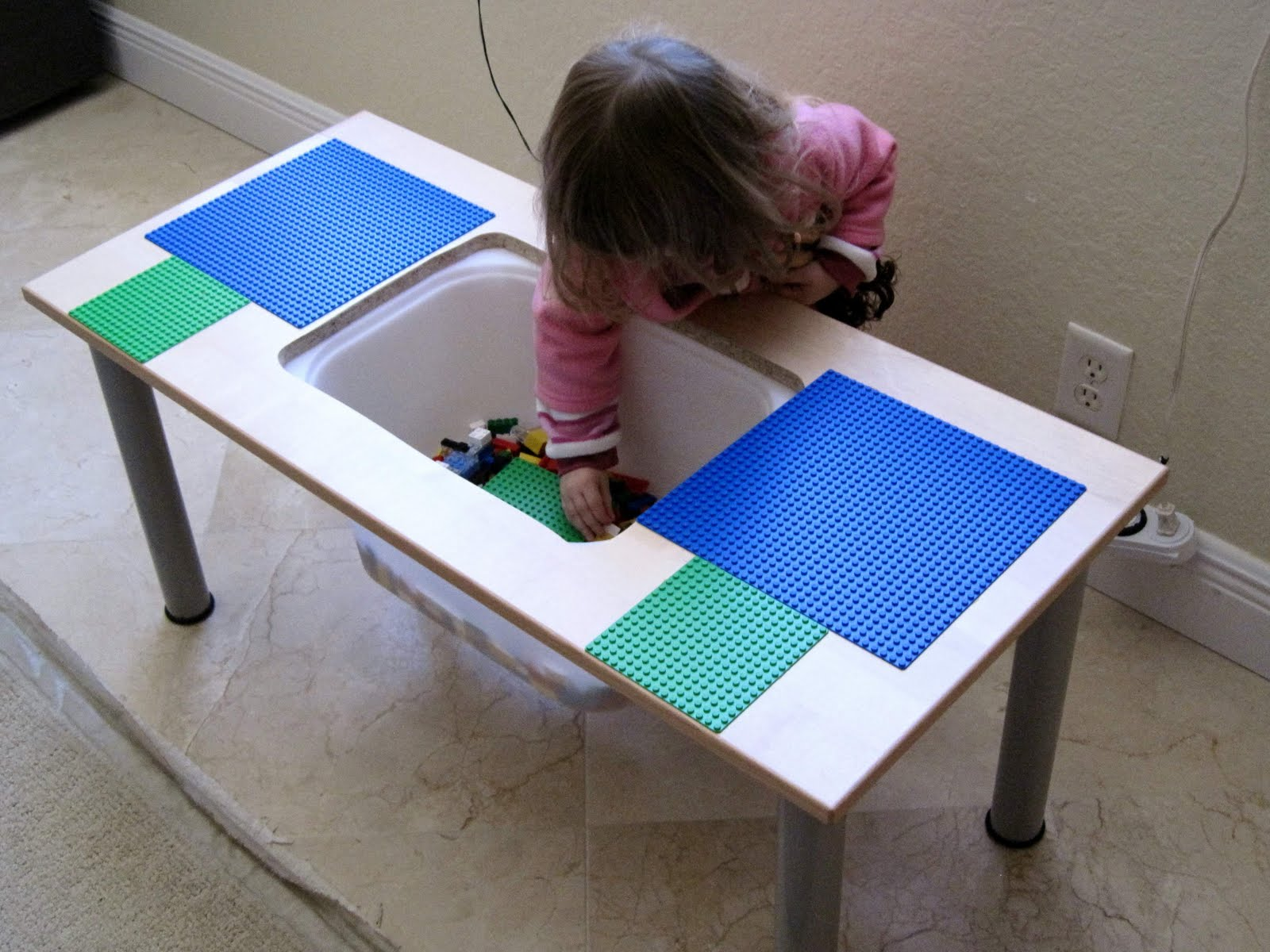 lego table from ikea kitchen cabinet door. Black Bedroom Furniture Sets. Home Design Ideas