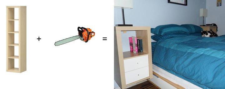 Ikea Schreibtisch Linnmon Alex ~ Mandal Nightstand Hack