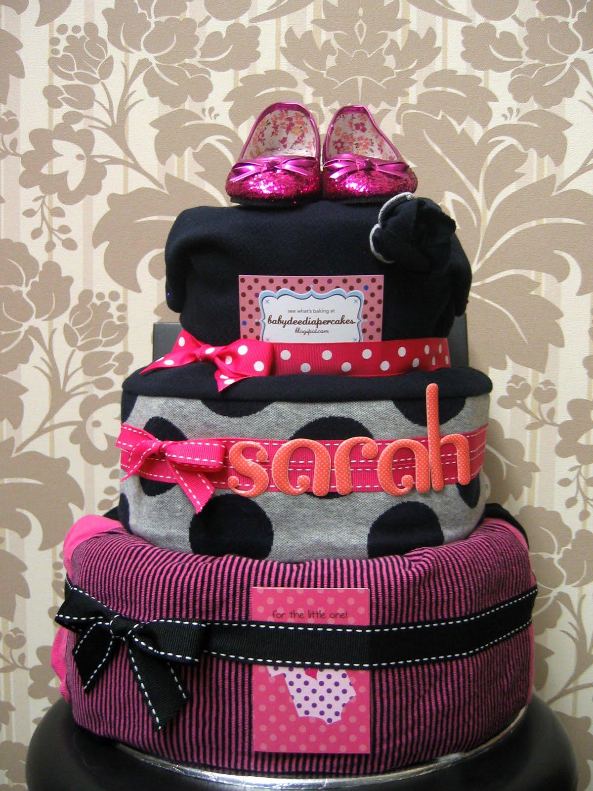 Baby Dee Diaper Cakes Dear Sarah Diaper Cake