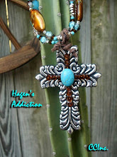 Cocky Cowgirl Cross Pendant