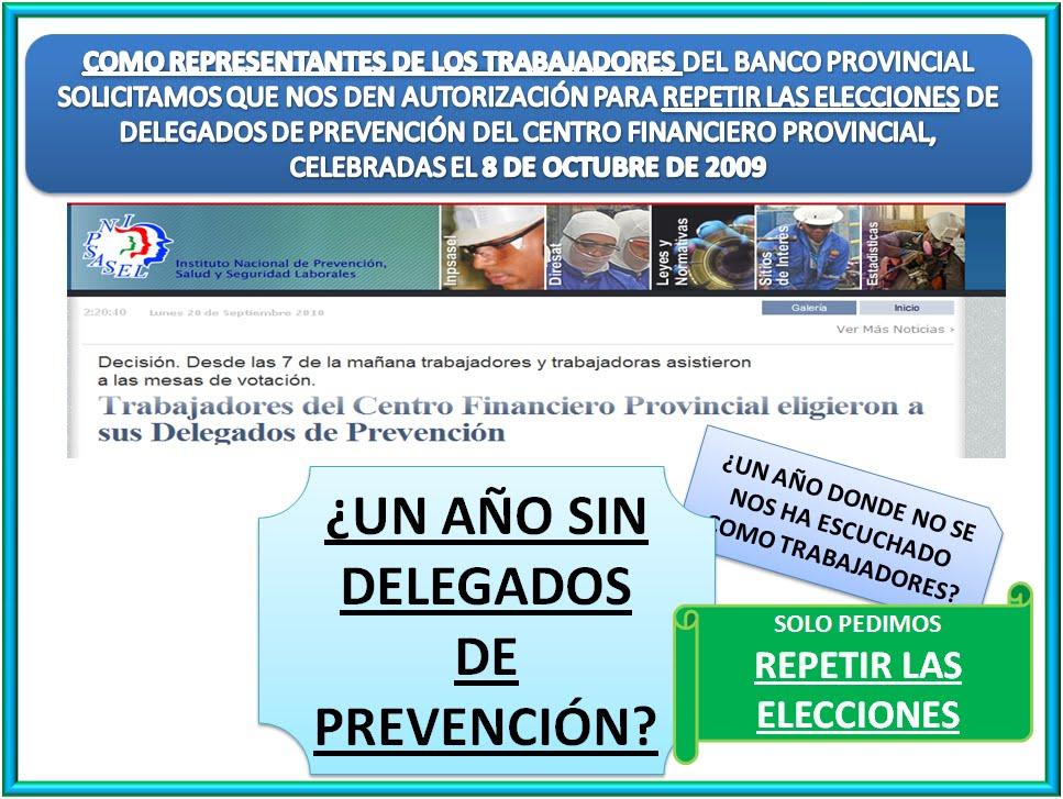 publicado por delegados de prevencion del bbva banco provincial en 18 ...