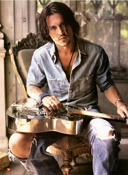 johnny depp hair. The long hair Johnny Depp look