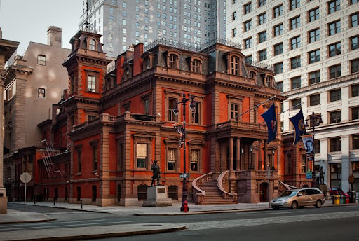 1800's architecture Philadelphia Beaux-Art Classic French Renaissance building, Republican male membership, John Fraser 1865 Philadelphia architect Horace Trumbauer Julian Abele