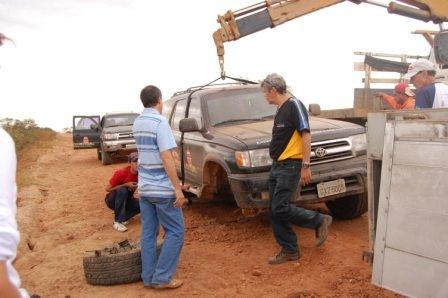 Situação do carro 03 na Bolívia
