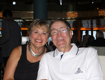 Joe and Bonnie having dinner in Alaska