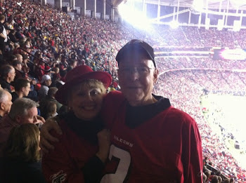 Joe and Bonnie at the Falcon Play off Game 01/15/11
