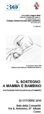 ... SOSTEGNO A MAMMA E BAMBINO in situazioni particolari di allattamento
