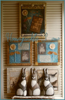 faith wisdom mixed media altered art canvas birds owls sparrows