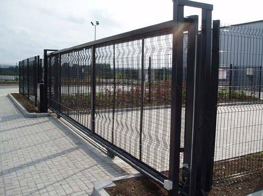 Puertas puertas correderas industrial hierro - Puerta corredera metalica ...
