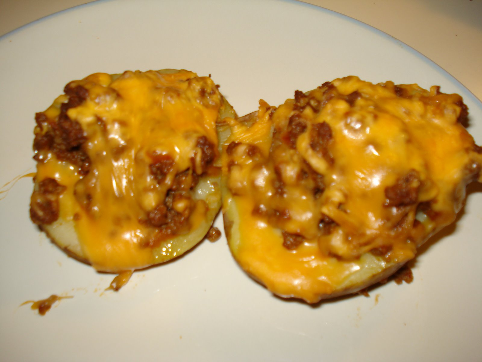 Made with love...: Taco Stuffed Baked Potatoes