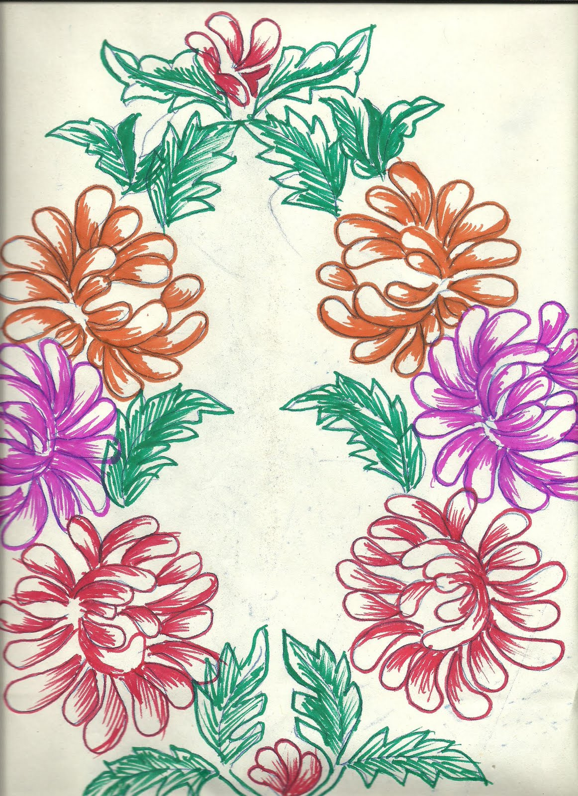 Table cover embroidery designs - Art N Craft