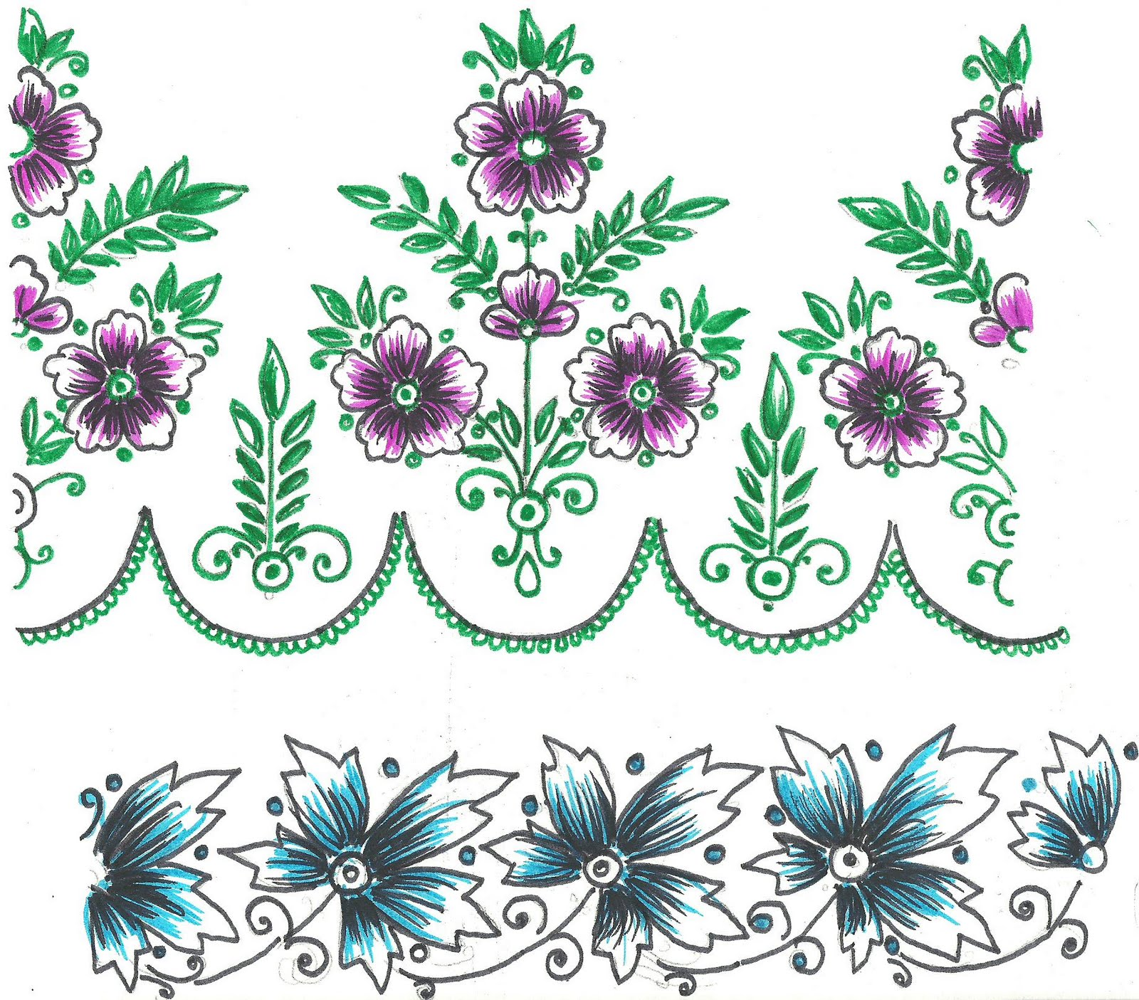 Embroidery Designs for Sarees Border http://9gag.ro/hand-embroidery-designs-for-sarees-border.htm
