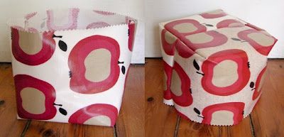 sewing tutorial: oilcloth baskets