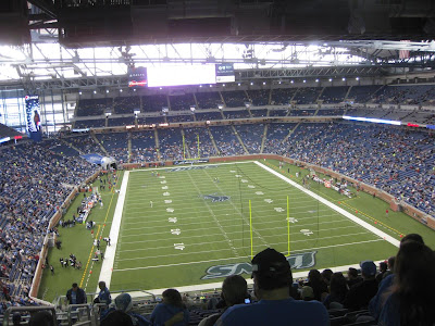 view from the upper bowl, ford field, detroit lions