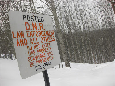 posted, DNR sign, warning